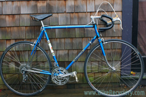 58cm 1972 Peugeot PX-10 Vintage Road Bike: All Original! Blue - Plain Nervex Lugs - Original Tubulars OR 1980's Clinchers