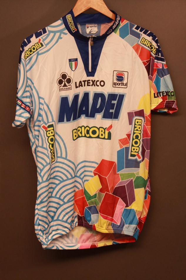 13e7df8a1 ... Vintage Colnago Team Mapei Jersey XXXL (US Size XL) Latexco-Sportful-Bricobi.  Image 1
