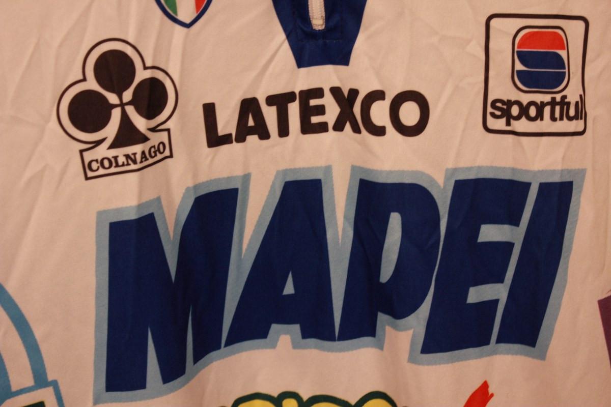 acb223119 ... Vintage Colnago Team Mapei Jersey XXXL (US Size XL) Latexco-Sportful-Bricobi.  Image 1. Image 1. Zoom · Image 1 · Image 2 · Image 3 · Image 4 ...