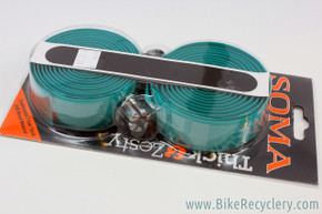Soma Thick & Zesty Handlebar Tape: 2.5mm Thick - Kelly Green (Turquoise)