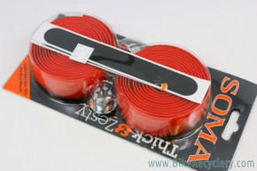 Soma Thick & Zesty Handlebar Tape: 2.5mm Thick - Red