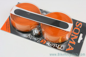 Soma Thick & Zesty Handlebar Tape: 2.5mm Thick - Orange Cork