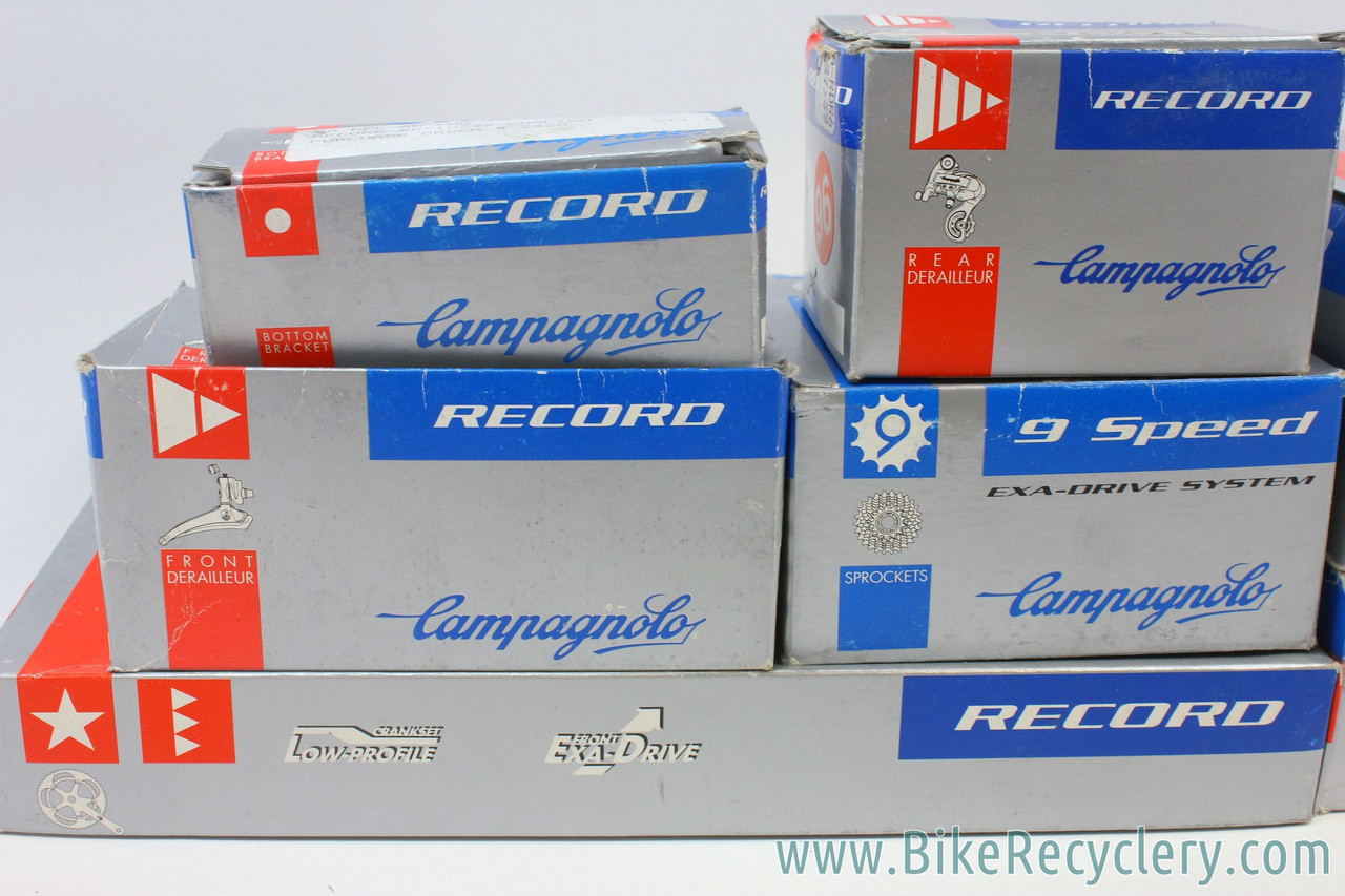 Campagnolo Record Titanium 9 Speed Gruppo: 9 Piece - 32H Hubs & QR / RD /  FD / BR / Ergo / 170mm FC / 12-23t CS (Near Mint to Mint Used)