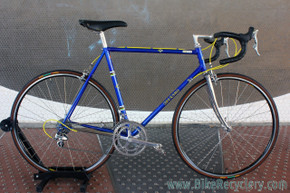 3Rensho Road Custom Show Bike: 55.5cm - Super Record Chrome Fork - Blue/Yellow - FULL Dura Ace 7402 8sp STI (Near MINT <200 mi)