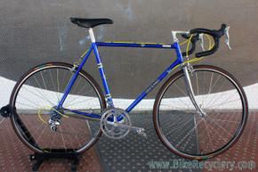 3Rensho Road Custom Show Bike: 55.5cm - Super Record Chrome Fork - Blue/Yellow - FULL Dura Ace 7402 8sp STI (Near MINT <200 mi)