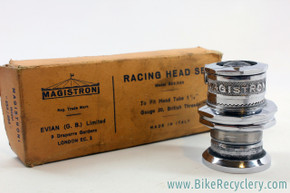 NIB/NOS Magistroni Clip-Type (and threaded)  Headset: Model 253/263 - Chrome - 1950's to 1960's