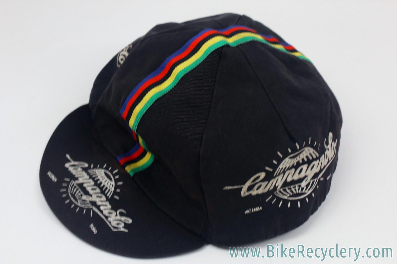 43369b66335 ... Campagnolo Cycling Cap  Black - World Champion Stripes. Image 1. Image 1