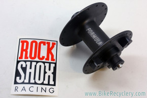 NOS/NIB Formula DC-91 / Rockshox Front Hub: High Flange - Black - For Rim Brake & 3-Hole Rockshox Disc Brake