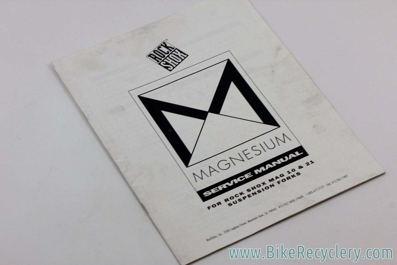 Rockshox Mag 21, Mag 20, Mag 10, Mag 30 Owners Manual & Shop Poster:  Vintage 1990's