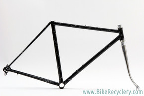 "1975 Albert Eisentraut A-Frame(?) Road Frame: USA Built - Custom ""Black Lightning"" Paint - 48cm x 52cm - 120mm (Near Mint)"