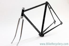 "1975 Albert Eisentraut A-Frame(?) Road Frame: USA Built - Custom ""Black Lightning"" Paint - 48cm x 52cm - 120mm (Near Mint)"