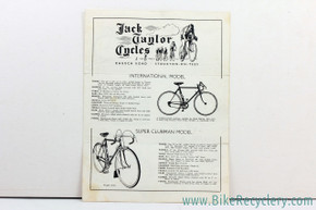 1950's Jack Taylor Cycles Catalog:  RARE!