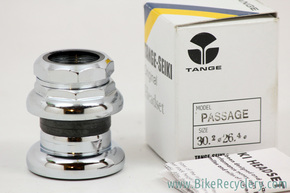 "NIB/NOS Tange Sekai Passage Threaded Headset: 1"" - Chrome - 26.4mm"