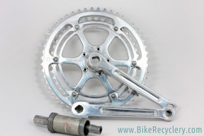 "TA Criterium REF 1500 Alloy Crankset: ""Cottered"" - 1950's - Phil Wood BB - Fluted -"