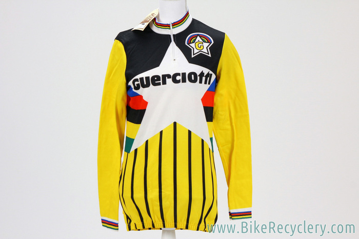 617001dbb NOS Guerciotti Cycles Star Long Sleeve Cycling Jersey  Yellow w ...