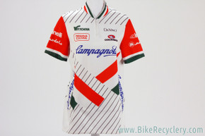NOS Campagnolo Team Vittoria Jersey: Large Vintage 1980's - White/Red/Green