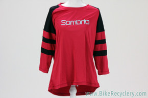 NEW Sombrio Pedigree Women's MTB Jersey: Large - 3/4 Sleeve Baseball Tee Style