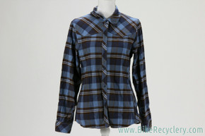NEW Club Ride Juliet Flannel: Button Down Plaid - Blue - Large
