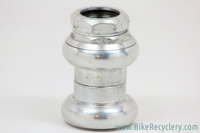 "1st Gen Chris King 2Nut 1"" Threaded Headset: Circa Late 1970's / Early 1980's - Silver (Near Mint & RARE)"