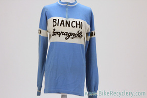 1970's Bianchi Campagnolo Team Jersey: Long Sleeve - Ma Ri Regina Confezioni - L/XL?