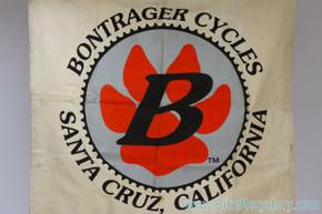 "Bontrager Cycles Canvas Banner: Vintage 1980's - Early 1990's (47"" x 44"")"