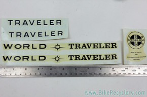 NOS Schwinn World Traveler Decal Set: Original Factory Decals