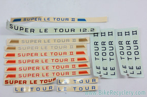 NOS Schwinn (Super) Le Tour Waterslide Decal Lot: 18 Piece - Genuine Schwinn Factory
