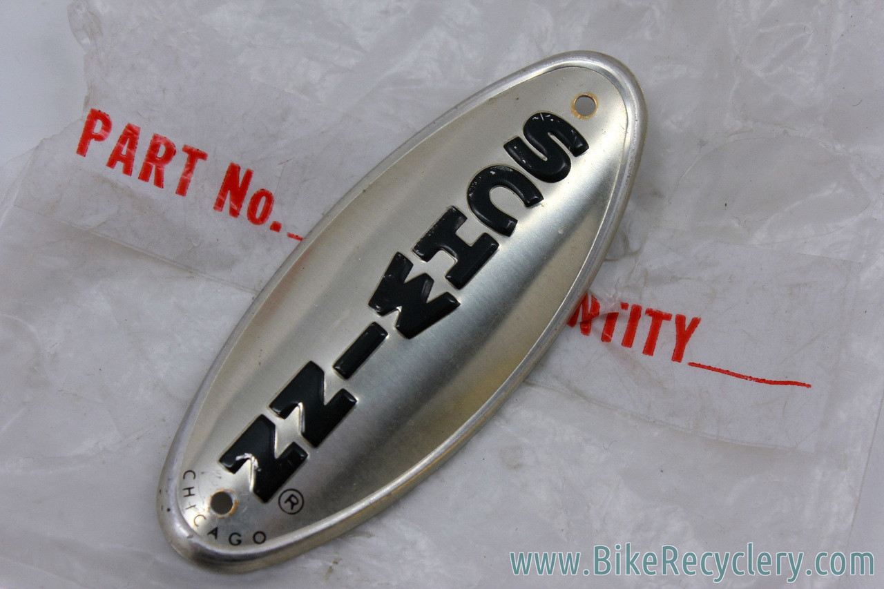 Chicago Schwinn Stingray & Middleweights Headtube Badge: Silver Oval