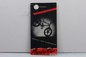 NOS 1985 -1986 Schwinn Predator  Owner's Manual (MINT)