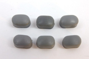 Set of 6 NOS DIA-COMPE Bakelite Caliper Brake Bolt Caps: Dark Grey - BMX Nippon/MX - Threaded