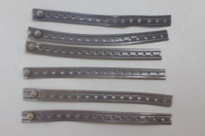 Lot of 6 NOS Schwinn / Huret Speedometer Cable Tie / Strap: For Stingray Krate Springer Fork & Others - Grey