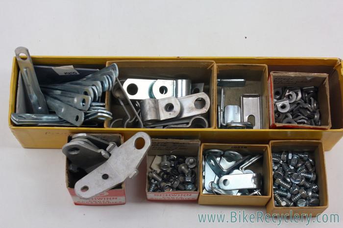 Vtg NOS Bicycle Fender Angle Bracket Reflector Metal Bracket Schwinn /& Others?
