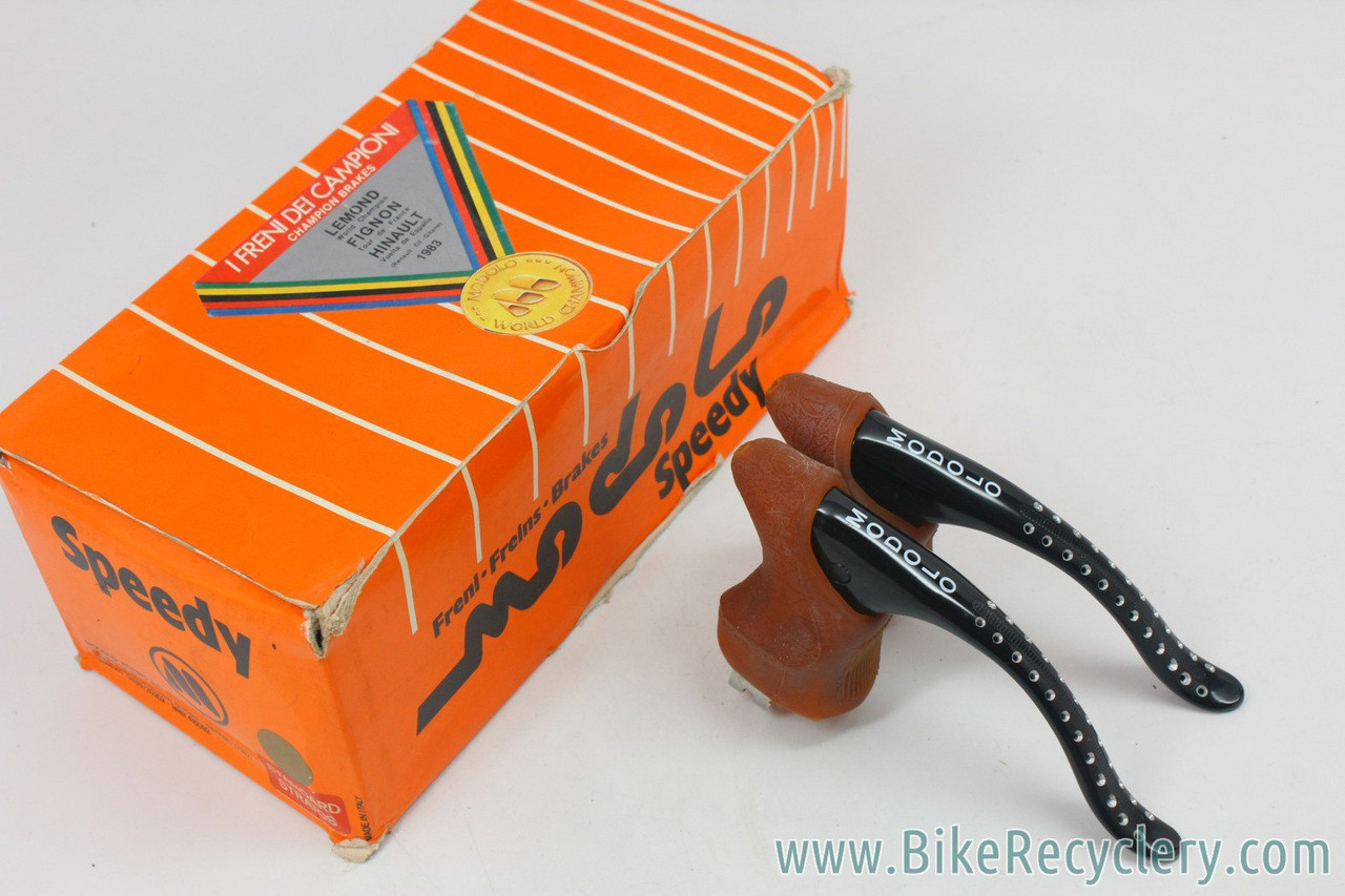 Modolo Brake Lever Hoods Black 919 Anatomic Fit Campagnolo Levers VINTAGE NOS
