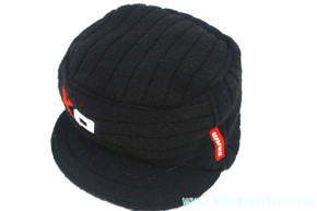 SRAM X0 2x10 Winter Cycling Cap / Beanie: Wool Blend - Black w/ Embroidered Red & White Logos (NEW)