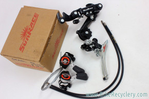Sunrace Complete 5/6/7 Speed Drivetrain: M10 Thumb Shifters - M2 Front & Rear Derailleurs (NEW)