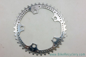 Zeus 2000 / Supercronos Drilled Chainring: 42t x 119mm BCD - Silver Ano