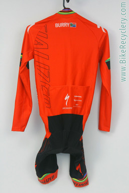 Burry Stander Specialized SL Team-Issued Skinsuit: Long Sleeve Midweight - Black/Red (Mint? New?)