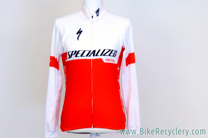 7b006287d ... 2017 Howard Grotts Team-Issued Specialized SL Pro Long Sleeve Jersey   Medium - Lightweight - Red   White (MINT+). Image 1