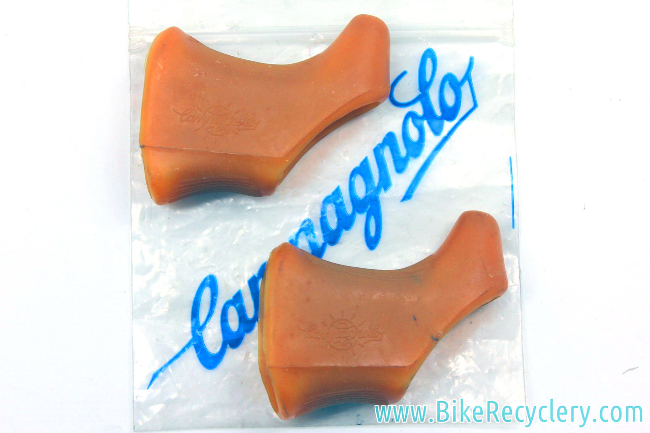 NOS Campagnolo Super Record Record gum brake lever hoods with world logo
