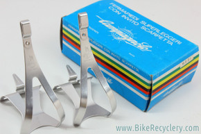NIB/NOS Campagnolo Super Record Toe Clips: Medium - Alloy - Shield Logo