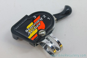 NOS Sturmey-Archer 3 Speed Trigger Shifter: 22.2mm - Made in England - 1980's - Black / Chrome