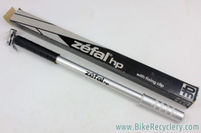 NIB/NOS 1970's Zefal HP Frame Pump: Alloy - Silver - 40cm / 47cm