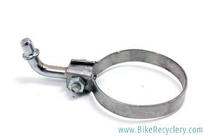 NOS Ad Hoc Pump Peg Clip / Clamp: Chrome - 7g - 28.6mm - Vintage 1940's to 1960's - Randonneur