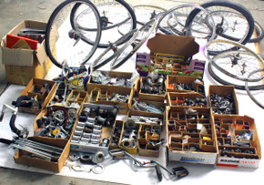 BULK Bendix / Sturmey Archer / Schwinn LOT: 1 Truck Full! NOS Hub Hardware - S2/S7 Red Band Kickback Wheels - Colorado Pickup ONLY