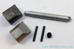 Park Tool PRS-1 / Schwinn S.S. Repair Stand Parts: Knob Wedges, Shaft, Pins, Grub Screw