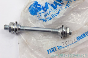 NIB/NOS Schwinn Lightweight 33-146 QR Front Axle: Cones / Dust Covers / Locknuts