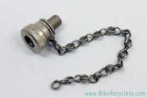 NOS 1960's Raleigh (?) Dunlop / Woods Valve to Schraeder Adapter: Silver - Chain