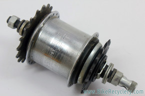 Sturmey Archer AW 3-Speed Hub: 1974 - Modified to Fixed/Free 2sp - 36H (EXC)