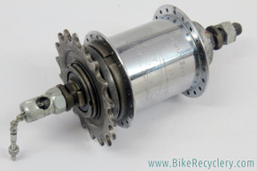 Sturmey Archer SW 3-Speed Hub: 1958 - 40H x 18t - Indicator Spindle