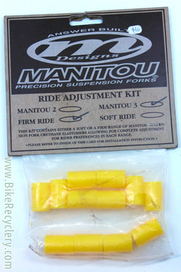 NOS/NIB Vintage Manitou Three Elastomer Rebuild Kit: Firm - Yellow